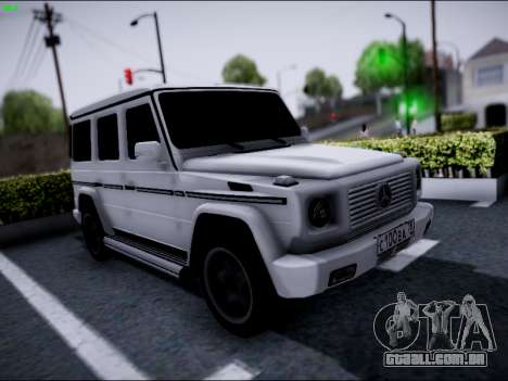 Mercedes-Benz G500 para GTA San Andreas vista interior