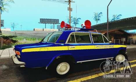 VAZ 21011 Propaganda para GTA San Andreas traseira esquerda vista