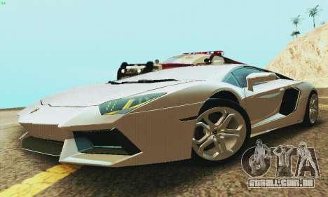 Lamborghini Aventador LP700 para GTA San Andreas traseira esquerda vista