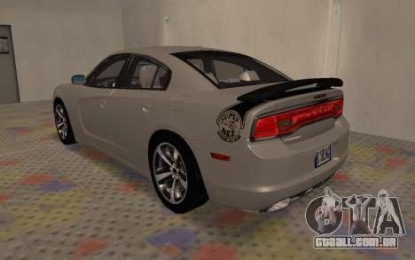 Dodge Charger Super Bee para GTA San Andreas vista direita