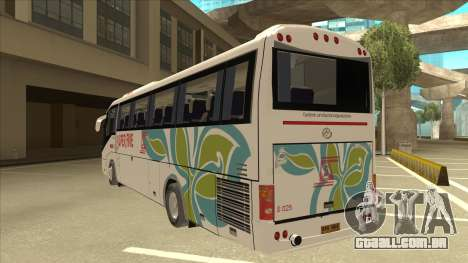 Higer KLQ6129QE - Super Five Transport S 025 para GTA San Andreas vista traseira