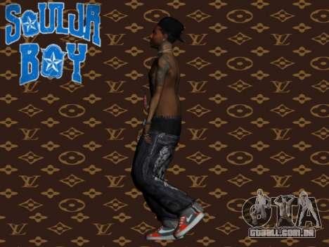 Soulja Boy skin para GTA San Andreas terceira tela