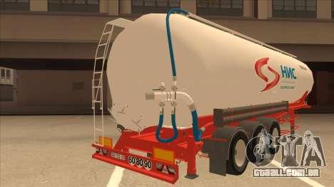 Semi-reboque para Scania R620 Nis Nis Kamion para GTA San Andreas vista direita