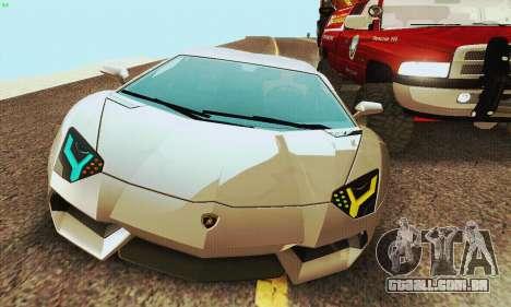 Lamborghini Aventador LP700 para GTA San Andreas vista direita