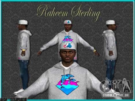 Raheem Sterling skin para GTA San Andreas quinto tela