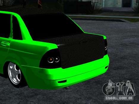 Lada Priora Carbon Lux para GTA San Andreas traseira esquerda vista