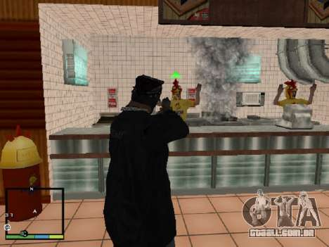 Roubo de loja para GTA San Andreas por diante tela