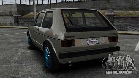 Volkswagen Golf MK1 GTI Update v2 para GTA 4 traseira esquerda vista