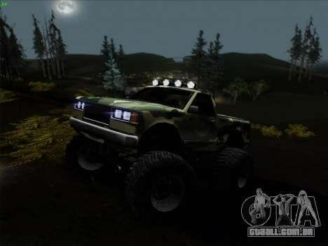 Camuflagem para monstro para GTA San Andreas vista traseira
