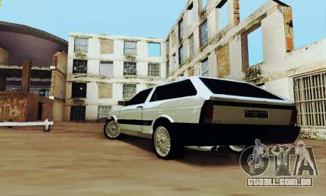 VW Parati GLS 1988 para GTA San Andreas traseira esquerda vista