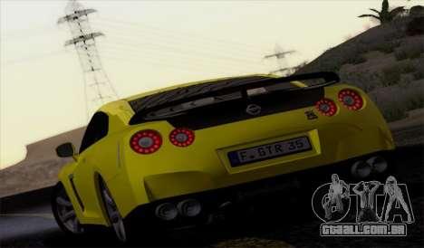 Nissan GT-R Carbon para GTA San Andreas esquerda vista
