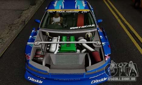 Nissan Silvia S15 Toyo Drift para GTA San Andreas traseira esquerda vista