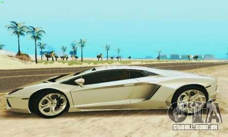 Lamborghini Aventador LP700 para GTA San Andreas esquerda vista