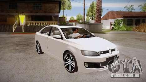 VW Jetta GLI 2013 para GTA San Andreas vista traseira