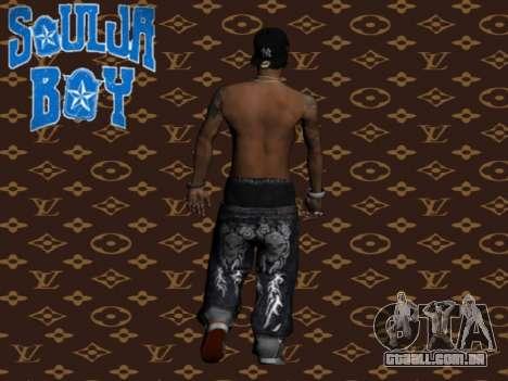 Soulja Boy skin para GTA San Andreas segunda tela