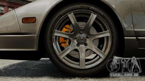 Acura NSX para GTA 4 vista de volta