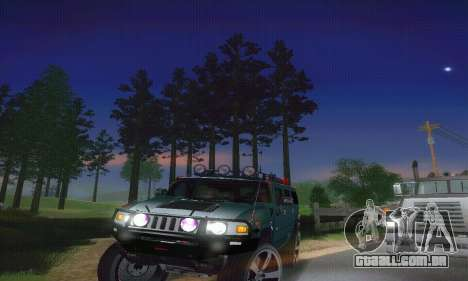 Hummer H2 Monster para GTA San Andreas vista interior