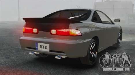 Acura Integra Type-R Domo Kun para GTA 4 traseira esquerda vista