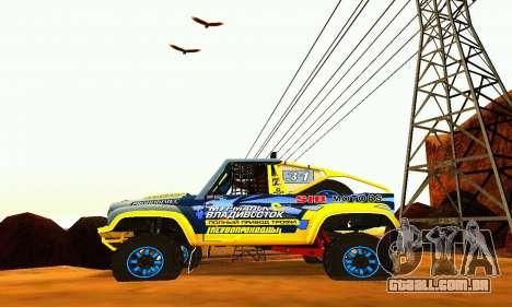 UAZ 31514 Rally para GTA San Andreas vista direita