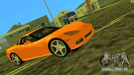 Chevrolet Corvette C6 para GTA Vice City vista traseira