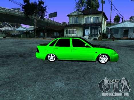 Lada Priora Carbon Lux para GTA San Andreas esquerda vista