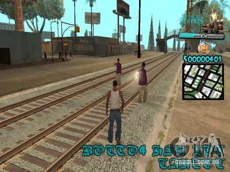 C-HUD by Kerro Diaz [ Aztecas ] para GTA San Andreas terceira tela