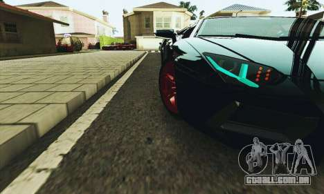 Lamborghini Aventador LP700 para GTA San Andreas vista superior