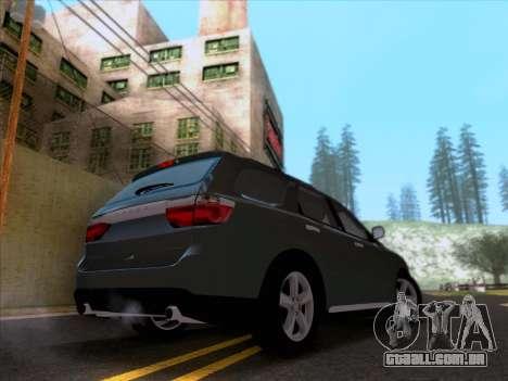 Dodge Durango Citadel 2013 para GTA San Andreas traseira esquerda vista