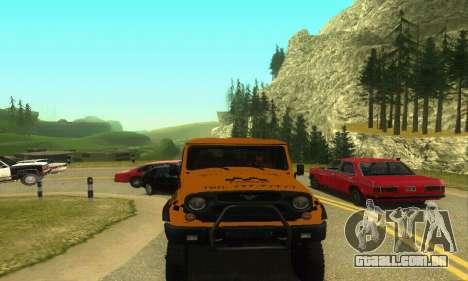 UAZ Hunter táxi para GTA San Andreas traseira esquerda vista
