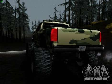 Camuflagem para monstro para GTA San Andreas vista direita