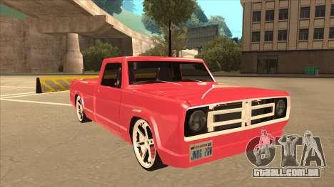Modified Sadler para GTA San Andreas esquerda vista