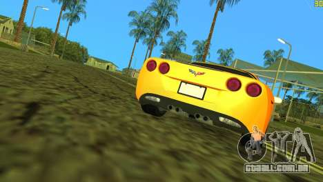 Chevrolet Corvette C6 para GTA Vice City vista superior