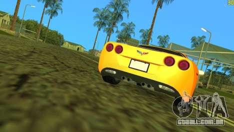 Chevrolet Corvette C6 para GTA Vice City vista superior