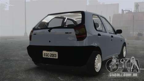 Fiat Palio EDX 1997 para GTA 4 traseira esquerda vista