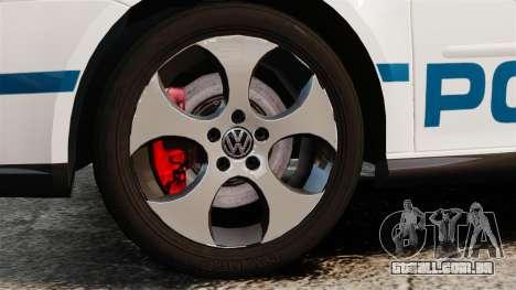Volkswagen Golf 5 GTI Police v2.0 [ELS] para GTA 4 vista de volta