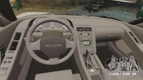 Acura NSX para GTA 4 vista interior