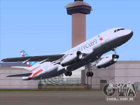 Airbus A319-112 American Airlines para GTA San Andreas vista traseira