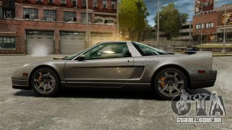 Acura NSX para GTA 4 esquerda vista
