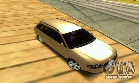 Audi A6 (C5) Avant para GTA San Andreas vista superior