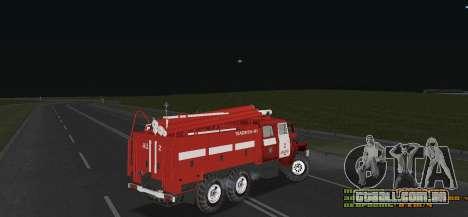 Ural 4320 bombeiro para GTA San Andreas vista direita