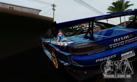 Nissan Silvia S15 Toyo Drift para GTA San Andreas vista direita