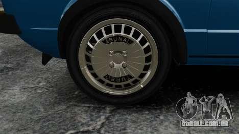 Volkswagen Golf MK1 GTI Update v2 para GTA 4 vista de volta