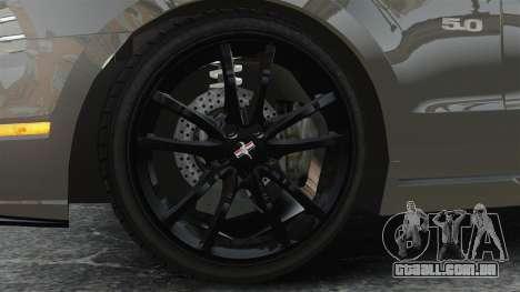 Ford Mustang GT 2013 para GTA 4 vista de volta
