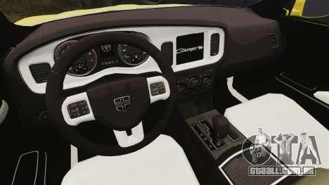 Dodge Charger 2011 Taxi para GTA 4 vista de volta