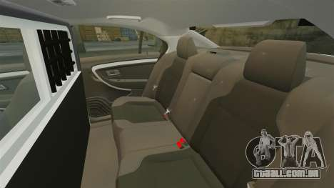 Ford Taurus 2010 Police Interceptor Detroit para GTA 4 vista lateral