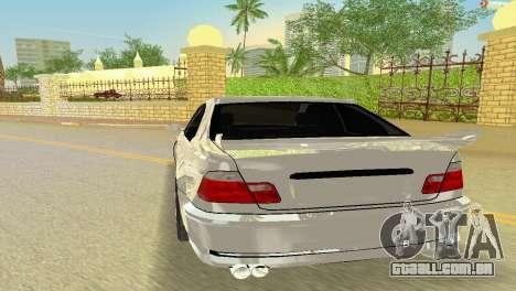 BMW M3 E46 Hamann para GTA Vice City vista traseira