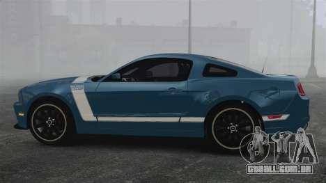 Ford Mustang BOSS 2013 para GTA 4 esquerda vista