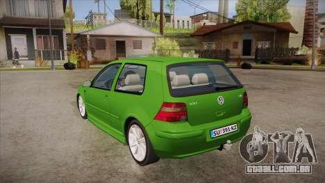 Volkswagen Golf Mk4 para GTA San Andreas traseira esquerda vista