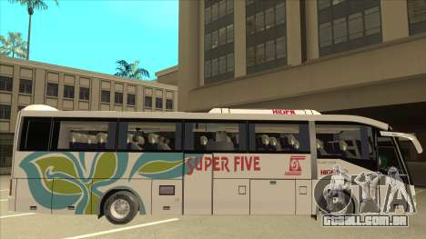 Higer KLQ6129QE - Super Five Transport S 025 para GTA San Andreas traseira esquerda vista