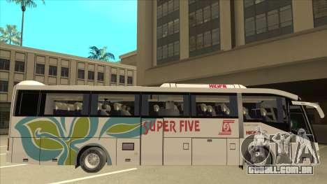 Higer KLQ6129QE - Super Five Transport S 025 para GTA San Andreas traseira esquerda vista
